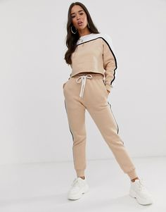 In The Style Contrast Side Stripe Joggers | ASOS