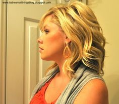 Here is a tutorial for a simple 1/2 up style:Start with hair curled! Seethis video for tips!1. Pull a section from one side of your head back to the center and insert bobby pins vertically.Th....