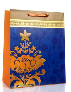 Indian Wedding Gift Bags - Wedding and Bridal Inspiration Indian Wedding Gifts, Wedding Gift Bags, Wedding Cards, Wedding Favors, Golden Flower, Royal Blue, Orange, Bridal, Flowers