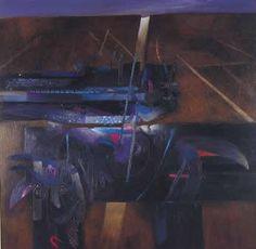 Fernando de Szyszlo Peru, Dos Camino a mendieta, acrilico sobre tela, 200 x 200, 1998