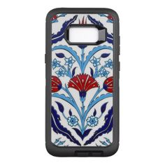 Iznik Tiles OtterBox Defender Samsung Galaxy S8 Case - patterns pattern special unique design gift idea diy