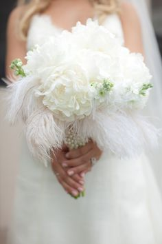 Non-traditional bouquet- Feathers