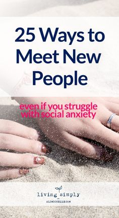Meeting people is tough--especially if you struggle with social anxiety. Many of us would rather avoid social situations rather struggle through the stress we associate with being around others. Avoidance and isolation, however, is not the answer. In fact, avoidance and isolation are two of the worst things for your mental health. Meeting people is tough--especially if you struggle with social anxiety. Many of us would rather avoid social situations rather struggle through the stress we…