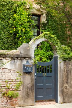 Charming gate and letter box in Charleston