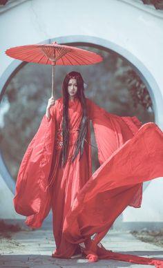 齐腰襦裙 (qiyao ruqun) - waistband on waist