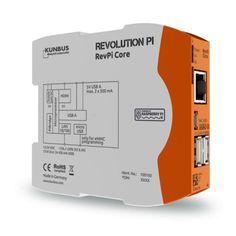 Revolution Pi Core-Modul Das Gehäuse wurde zur Montage auf Hutschienen in Schaltschränken konzipiert und erfüllt die Schutzklasse IP20. Die Spannungsversorgung erfordert standardmäßig 12 bis 24 Volt. Allerdings ist auch ein Betrieb mit 10,7 Volt möglich, wenn der Ausgangsstrom an den USB-Anschlüssen auch weniger als 500 mA betragen darf. Beim Betrieb mit 24 Volt können die Spannungswandler des Core-Moduls Spannungseinbrüche für mindestens 10 ms überbrücken.