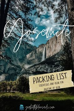 Yosemite Packing List: Essentials and gear for any time of year. Browse top items and tips for hiking, rafting, camping, and biking. 🌿 #yosemitenationalpark #traveltips #camping #camplife #backpacking #roadtrip #bucketlist #yosemitefalls