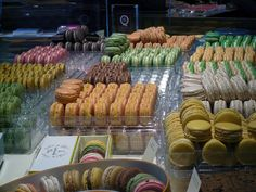 Pastry display at Pierre Hermé. Photo by alphacityguides.
