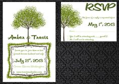 Tree Hugger Wedding Invitation  Printable by SnarlingChihuahua, $25.00