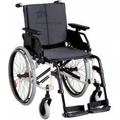 Silla de Rueda CANEO L de Long. Silla de ruedas ligera especialmente diseñada para personas de más de 180 cm, adecuada a su estatura, cómoda, maniobrable y de gran estabilidad.