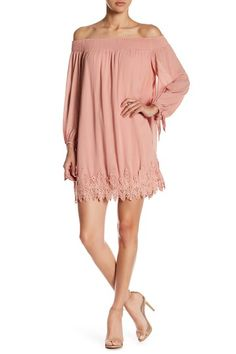 Tie Sleeve Off-the-Shoulder Shift Dress by ASTR the Label on Nordstrom Dresses, Nordstrom Rack, Off The Shoulder, Label, Cover Up, Tie, Sleeve, Pink Dresses, Clothes