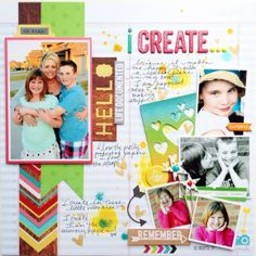 #papercraft #scrapbook #layout. NEW Simple Stories Good Day Sunshine - Scrapbook.com - Made with Simple Stories Good Day Sunshine.