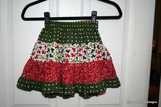 Little Red House Designs: Christmas Twirl Skirt