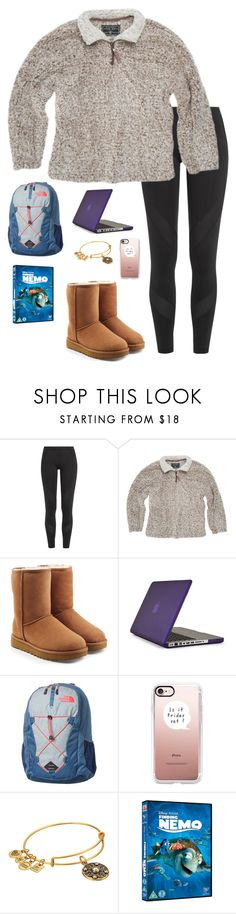 """I'm going to be stuck in a car all day today"" by eadurbala08 ❤ liked on Polyvore featuring adidas, True Grit, UGG, Speck, The North Face, Casetify and Alex and Ani"