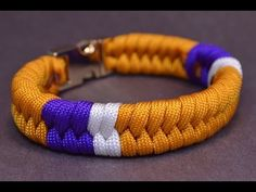 How to Add Color Sections to a Fishtail Paracord Survival Bracelet - BoredParacord - YouTube