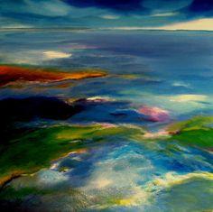 Nelly Van Nieuwenhuijzen Title: The Dutch coast Watercolor Paintings, Original Paintings, Watercolors, Keep Company, Diy Projects To Try, Medium Art, Shades Of Blue, Art Nouveau, Dutch