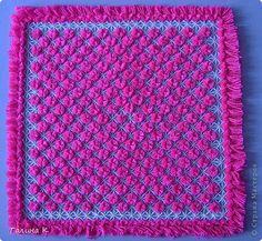 Интерьер Плетение Плетеная салфетка Нитки фото 1