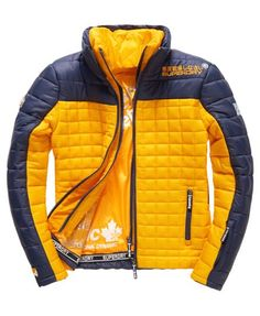 Superdry Box Fuji Racer Quilted Jacket Navy