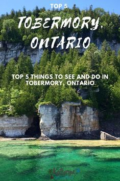 Top 5 Things to See And Do In Tobermory Ontario Canadian Travel, Canadian Rockies, Ontario Parks, Ottawa Ontario, Tobermory Ontario, Flowerpot Island, Places To Travel, Places To Go, Ontario Travel