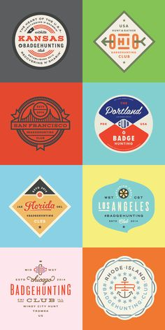 Here's a gorgeous collection of retro-style logos and badges by Minneapolis-based designer Allan Peters. Currently Associate Creative Director at Target's in-house studio, Peters also runs Peters Design Co. and caters to clients like Nike, ESPN and Johnso Vintage Graphic Design, Graphic Design Branding, Retro Design, Logo Desing, Corporate Design, Lettering, Typography Logo, Web Design, Typographie Inspiration