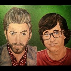 #finished sorry for spamming btw #rhettandlinkpaintingprocess #process #rhettmclaughlin #linkneal #rhettandlink #rhett #link #rhettmclaughlinfanart #linknealfanart #rhettandlinkfanart #goodmythicalmore #goodmythicalmorning #gmm #painting #art #acrylic #color #youtube #YouTuber #YouTubers#EmilyGreeson #EmilyGreesonArt #portraits #portrait