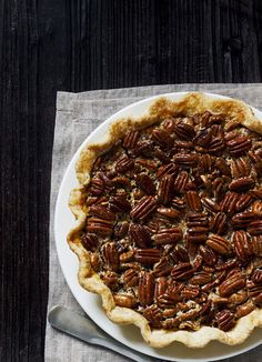 Bourbon Pecan Pie; Chef Hilary White, the Hil in Serenbe, Georgia. (Photo Credit: Johnny Autry.)