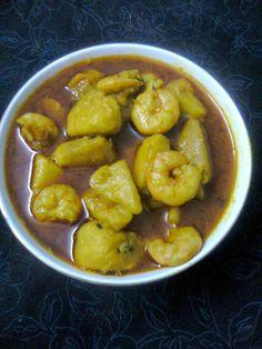 Cookingenuff: Ol Chingri / Elephant Foot yam gravy with Shrimp