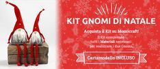 Kit Gnomi di Natale Gnomes, Art Projects, Christmas Crafts, Gnocchi, Tutorial, Holiday, Blog, Inspiration, Christmas Sewing