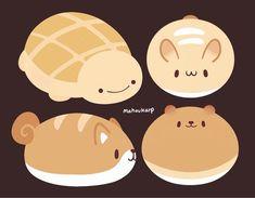 Art Kawaii, Cute Kawaii Drawings, Cute Animal Drawings, Pretty Art, Cute Art, Cute Kawaii Animals, Tsumtsum, Creature Drawings, Dibujos Cute