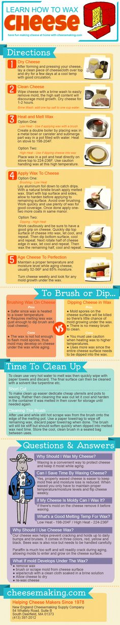 This easy to follow step by step tutorial will have you waxing cheese like a pro!