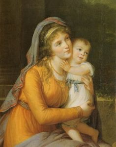 Baroness Anna Sergeevna Stroganova and Her Son Sergey - Élisabeth Vigée-Lebrun - The Athenaeum