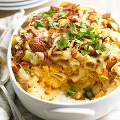A dish for all ages! Onions, bacon, and butternut squash turn this macaroni and cheese dish into an instant family favorite: http://www.bhg.com/recipes/casseroles/freezer-ready-casseroles/?socsrc=bhgpin120314butternutsquashmacandcheese&page=3