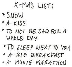 The perfect Christmas list.
