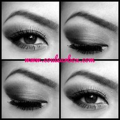 1920s Eye Makeup: The Great Gatsby Inspired Look | Couleur Box (black and white)