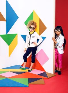 Creative Goodrich, Adi, Kids, Tangrams, and Fashion image ideas & inspiration on Designspiration Kids Pop, Cool Kids, Kids Fashion Photography, Children Photography, Kids Studio, School Fashion, Fashion Kids, Fashion Outfits, Fashion Images