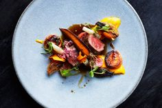 Blesbok loin - at Delaire Graff Estate Restaurant Blog, South African Wine, Asian Restaurants, Indochine, Culinary Arts, Fine Dining, Soul Food, A Food, Stuffed Mushrooms