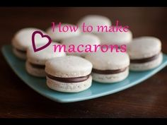 ✿ How to make MACARONS with Chocolate ganache | It's Time to Cook | Recipe