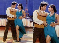 Shahrukh and Kajol in a scene DDLJ.