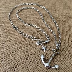 """*new* 26"""" Coastal Anchor Silver Necklace. Get the lowest price on *new* 26"""" Coastal Anchor Silver Necklace and other fabulous designer clothing and accessories! Shop Tradesy now"""
