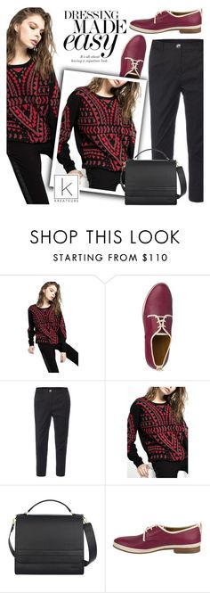 """""""Dressing made easy!"""" by kreateurs ❤ liked on Polyvore featuring Deby Debo, Devastee, Sweater, blackpants and kreauters"""