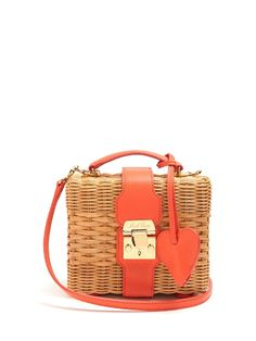 MARK CROSS Harley Rattan And Leather Cross-Body Bag.  markcross  bags  .  Red Shoulder ... 1cd2f4e552