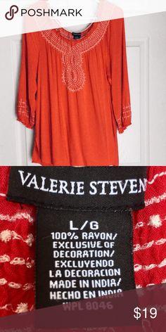 VALERIE STEVENS BOHO OFF SHOULDER PEASANT TOP  .... Valerie Stevens Tops Blouses