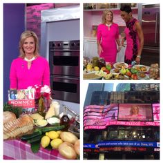 I had a great time yesterday morning talking with Robin Roberts about my new book and helping the team kick off Breast Cancer Awareness Month!  #RomneyFamTable #Romney #Cookbook #Recipes