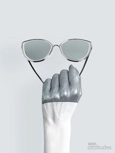 Lunettes Attitudes Magazine Printemps-Été 2018 : LE FULL METAL - Nickel chrome ! Premier magazine des Opticiens Indépendants de France ! #eyes #eyewear #fashion #tendances #glasses #lunettes #opticien #optician #optique #luz #luzoptique #magazine #webzine #grey