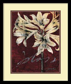 Cabernet Blossoms II by Liz Jardine Framed Painting Print