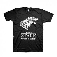 House Stark Winter is Coming Cotton T-Shirt   IdolStore