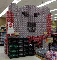 Another awesome Coke display - it's a polar bear!