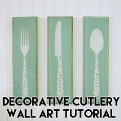 Decorative Cutlery Wall Art Tutorial and Free SVG Cut File