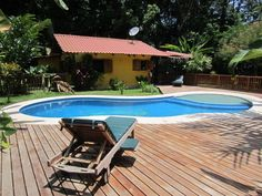 House vacation rental in Puerto Viejo, Costa Rica. Private pool, minutes walking distance from beach.