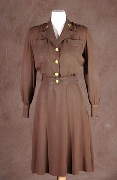 Here's the fifth of our top 10 #FLHistoryCostumes for Halloween, inspired by items in the Museum of Florida History. A member of the Women's Army Nurse Corps during WWII. Worn by a donor in World War II when she was in the U. S. Army Nurse Corp as a Physical Therapist she also wore the uniform as her wedding outfit on Dec. 30, 1944.